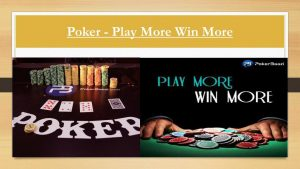 Poker - How to Win More